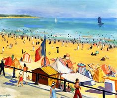 The Beach, Sables d'Olonne / Albert Marquet - 1923