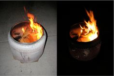 Weekend DIY Project: How To Make A Fire Pit from A Washing Machine Tub : HomeJelly