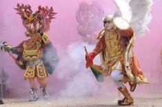 Diablo y Arcángel… carnaval de Oruro Bolivia Foto EFE