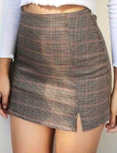 Naomi Checked Mini Skirt Perfect for styling with boots this autumn season Check Mini Skirt, Plaid Mini Skirt, Plaid Skirts, Mini Skirts, Leopard Print Skirt, Hot Dress, Black Plaid, Printed Skirts