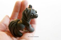 Black Pony regular size by TumbleCreatures on Etsy-- so dang cute...So sad they are so popular that they are always sold before I even see the photos on Facebook.