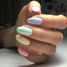 35+ Extremely Cute Candy Colors Nail Art Design – Page 6 – Chic Cuties Blog