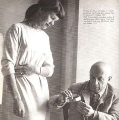 Vivianna Torun Bülow-Hübe, most important Swedish silversmith of the post-war era, with Picasso who loved her jewelry.