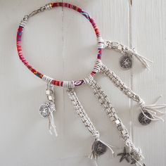 FREE SHIPPING Macrame choker/ Crochet Necklace/ Crochet Choker/ macrame necklace/ coin necklace