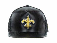 New Orleans Saints NFL Leathered Mesh 9FFIFTY Snapback Cap Hats #snapback #snapbax