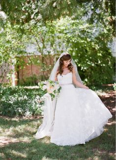 Timeless gown and veil