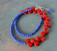 halsketting coral blauw by Fleurfatale