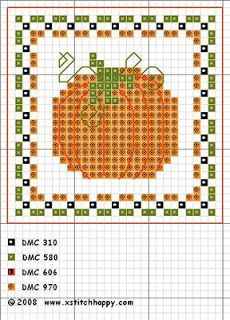 Cross Stitch Happy: Pumpkin Fob... would be cute made with beads.