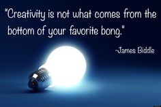 """""""Creativity is not..."""" -James Biddle  http://earth66.com/quotes/creativity-james-biddle/"""