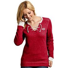 Cincinnati Reds Women's Rally French Terry Sweatshirt by Antigua