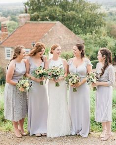 Quite possibly the best spot EVER for bridesmaid photos. pretty village views everywhere you look and surrounded by the best friends a girl could have. Be My Bridesmaid, Bridesmaids, Bridesmaid Dresses, Wedding Dresses, Yorkshire Wedding Photographer, Bestfriends, Bridal Style, Engagement, Pretty