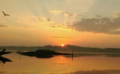 Dawn over Strangford Lough.