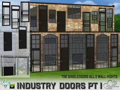 Sims 4 CC's - The Best: Industry Build: Singledoors by BuffSumm