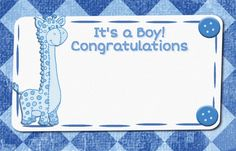 #Congratulate the #parents on the arrival of the baby boy through this ecard ->