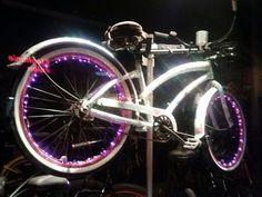 Bike bling! Bedazzled beach cruiser in Newport Beach CA