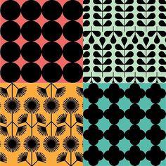 ⚫️⚫️⚫️ #vintage #textile #minimal #pattern #set #fashion #geometry #bold #floral #leaves #circles #cornflower #tile #colorful #graphicdesign