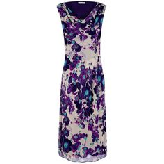 Windsmoor Poppy Print Dress, Purple ($30) ❤ liked on Polyvore featuring dresses, long-sleeve floral dresses, purple dress, flower print dress, floral dresses and purple sleeveless dress