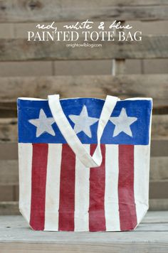 DIY painted tote: a useful Fourth of July craft.