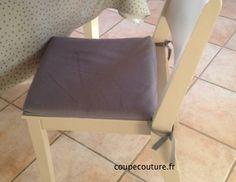 Housse amovible pour galette de chaise