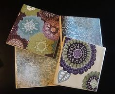 Tile Coasters with Scrapbooking Paper