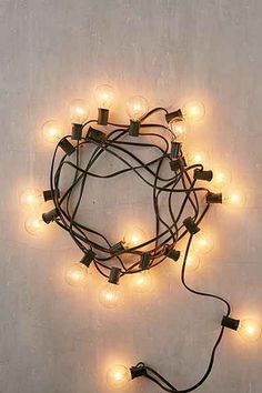 Shop Black Corded Globe String Lights at Urban Outfitters today.