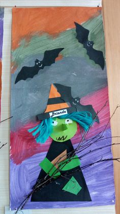 Diy And Crafts, Crafts For Kids, Art For Kids, Art Children, Fun Halloween Crafts, Witch Broom, School Projects, Art Lessons, Barbie