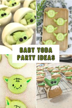 After all the talk of Baby Yoda (The Child) from the new Disney+ series, The Mandalorian, we thought it'd be fun to share these Baby Yoda Party Ideas with Bd Star Wars, Theme Star Wars, Star Wars Baby, Star Wars Birthday, Boy Birthday, Birthday Ideas, Birthday Cakes, Birthday Parties, Star Wars Party Food
