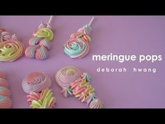 Rose Meringue Cookies, Baked Meringue, Meringue Cookie Recipe, Meringue Desserts, Rose Cookies, Meringue Cake, Cake Decorating Techniques, Cake Decorating Tips, Cookie Decorating