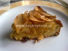 0404201314788 Greek Desserts, Greek Recipes, Vegan Desserts, Vegan Vegetarian, Vegetarian Recipes, Meals Without Meat, Cake Recipes, Dessert Recipes, Greek Cooking