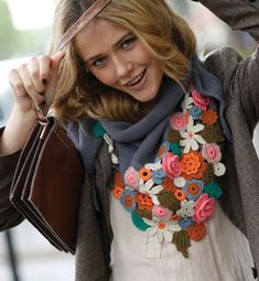 Crochet Triangle Shawl Models and Samples – Knitting And We Crochet Flower Scarf, Freeform Crochet, Crochet Shawl, Irish Crochet, Crochet Flowers, Knit Crochet, Knitted Shawls, Crochet Scarves, Crochet Clothes