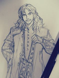 Hey, how's it going? Kili pencil sketch