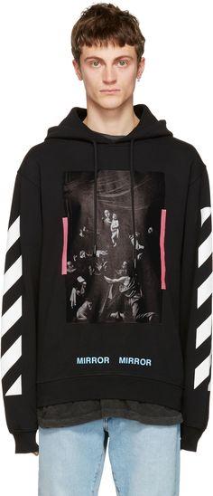 OFF-WHITE Black Diagonal Caravaggio Hoodie. #off-white #cloth #hoodie