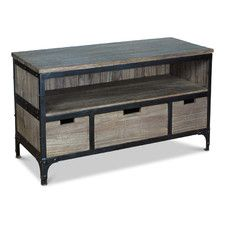 Industrial Recycled 3 Drawer Low Cabinet