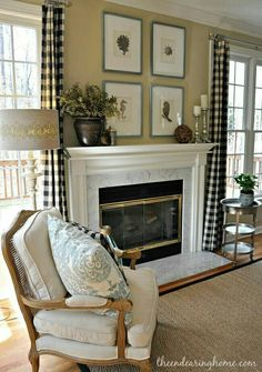 The Endearing Home — Restyle, Repurpose, Reorganize.not that much whimsy in this room but it has such a lovely, peaceful aura ; My Living Room, Home And Living, Living Room Decor, French Country Living Room, French Country Style, French Decor, French Country Decorating, Family Room Design, Family Rooms