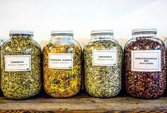 Just a few of our favorite things to mix in the studio  #herbs #chamomile #rose #natural #organic #vegan #handmade #selfcare #brooklyn #bushwick #divine #tea #loose #blend #wild #flower #botanical #beautiful #beauty  @Danica.jorge
