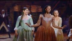 Hamilton GIF- Broadway- Phillipa Soo- Renee Elise Goldsberry- Jasmine Cephas Jones