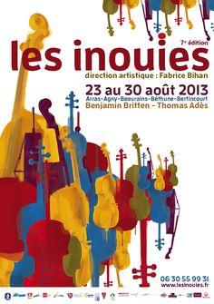 Affiche Festival les Inouïes | Musique en Roue Libre graphisme par Nom Commun