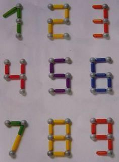 Billedresultat for magnetix voorbeelden Kindergarten Math Activities, Montessori Activities, Math Classroom, Preschool Activities, Learning Numbers, Math Numbers, Numicon, Busy Boxes, Math Work