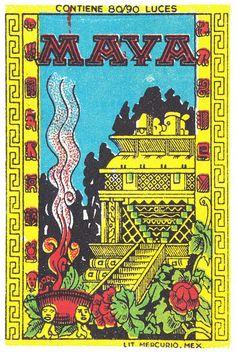 Vintage matchbox cover via Au carrefour étrange