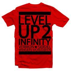 Vermon Seidel - Level Up to infinity #vermonseidel #kikuyuwood #wingerswordwide #men  #tshirt #fashion #vermon