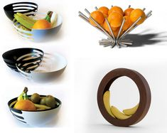 Unique and modern fruit bowls..