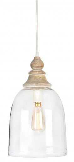 Hamptons bell, glass and wood mix pendant lamp # glas … - Modern Pendant Lighting Bedroom, Kitchen Pendant Lighting, The Hamptons, Pendant Lighting, Light, Pendant Lamp, Pendant Light, Hamptons Kitchen, Light Fittings