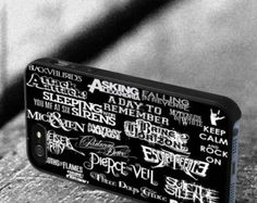 Falling in reverse black veil brides escape iPod Touch 4/5,iPhone 4/4s/5/5s/5C,Samsung Galaxy S3/S4/S5 plastic,rubber cover Phone case