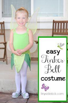 easy tinker bell costume