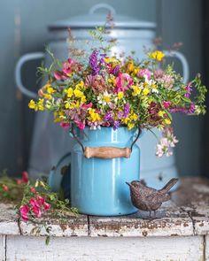 Beautiful Flower Arrangements, Wild Flowers, Floral Arrangements, Beautiful Flowers, My Flower, Flower Power, Bouquet Champetre, Deco Floral, Country Farm