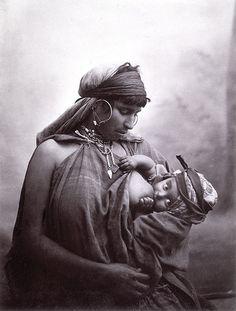 J. Garrigues. Bedouin Woman Nursing, Tunis, Tunisia, c. 1880