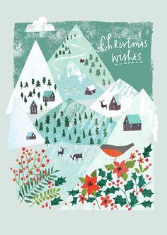 weihnachten illustration Christmas wishes card Christmas Mood, Christmas Design, Christmas Wishes, Vintage Christmas, Christmas Crafts, Illustration Noel, Winter Illustration, Christmas Illustration, Illustrations