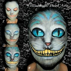 tim burton cheshire cat makeup - Google Search