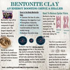 Toxins In Diet How to use bentonite clay to detox your body and colon from toxic chemicals; the clay internal body cleanser. Removes heavy metals, toxins, mucoid plaque - lots of benefits! Read more - Ayurveda, Mucoid Plaque, Bentonite Clay Benefits, Uses For Bentonite Clay, Health And Beauty, Health And Wellness, Health Care, Healthy Beauty, Heavy Metal Detox