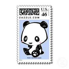 Shop Weetle Panda Postage created by Studio_Capsule. Panda Love, Cute Panda, Panda Bear, Postage Stamp Design, Postage Stamps, Kawaii, Panda Funny, Panda Party, Stamp Collecting
